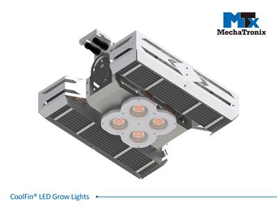 Mechatronix CoolFin® I 3RBEQW LV 120BW 0-10V Horticulture LED Top Grow Light; Indoor Cultivation; 600 Watts; Input 90-305 Vac; PPF 1500µmol/s; Growth Recipe - CoolGrow® I 3RBEQW 23% Blue 14% Green 63%