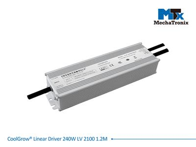 Mechatronix COOLGROW® LINEAR DRIVER 240W LV 2100 1.2M Driver for CoolGrow Linear LED grow light bars - 240 watts - If 2100mA - Input voltage 110/230 - output cable 1.2 meter
