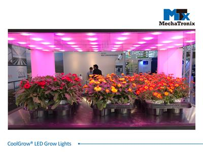 Mechatronix COOLGROW® VF II 120X75 2RBLFR LV BLO Horticulture LED Top Grow Light; Vertical Farming Cultivation; 200 Watts; Input 110-230 Vac; PPF 400µmol/s; CoolGrow II 2x25% Red 25% Blue 25% Far Red